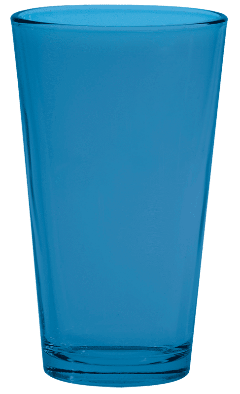 Process Blue Pint Glass