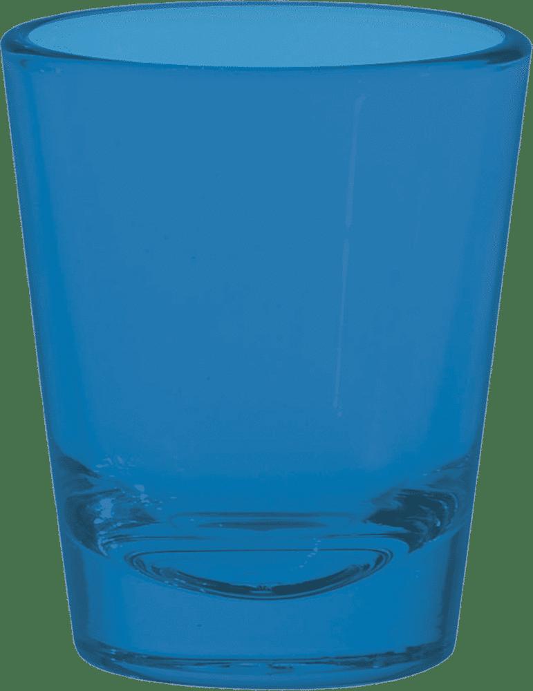 Process Blue Shot Glasses